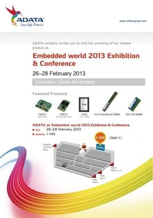 adata_technology_to_showcase_latest_industrial_memory_and_storage_solutions_at_embedded_world_2013